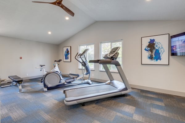 State-of-the-art fitness center at Alaire Apartments in Renton, Washington