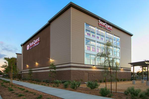 Self storage building exterior in Anaheim