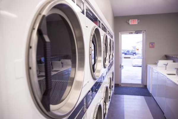 Large community laundry room at Campus View & Kirkwood Court in Cedar Rapids, Iowa