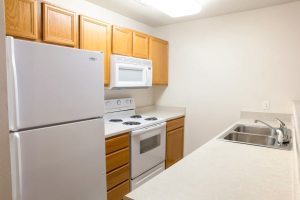 Apartment kitchen at West Towne in Ames, Iowa