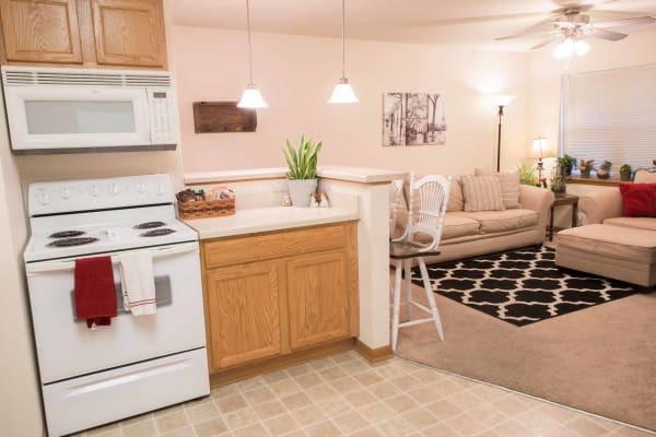 Modern kitchen at West Towne in Ames, Iowa