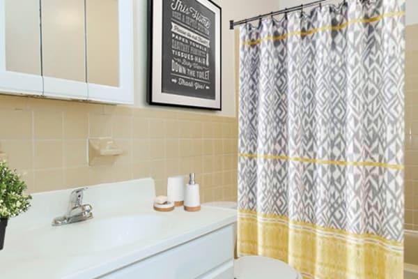 Bathroom at Whitestone Village Apartment Homes in Allentown, Pennsylvania