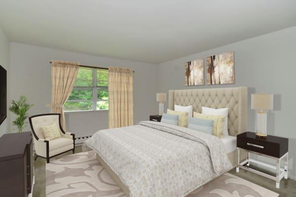 Bedroom at Whitestone Village Apartment Homes in Allentown, Pennsylvania