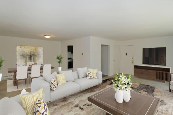Living Room at Whitestone Village Apartment Homes in Allentown, Pennsylvania