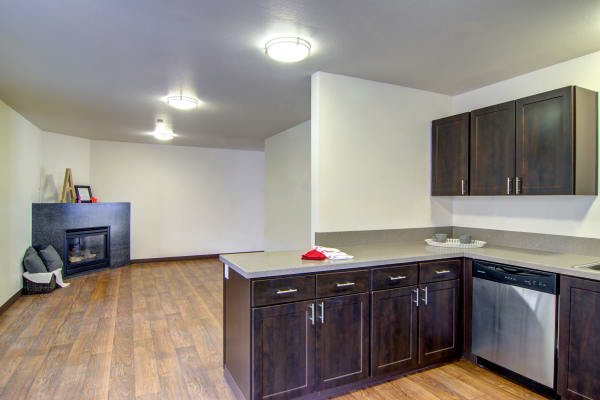 Kitchen at The Addison Apartments in Vancouver,