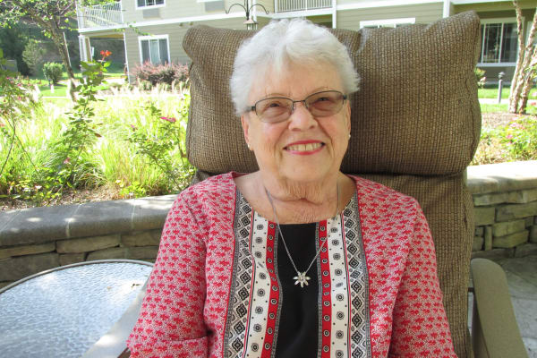 Judith Swartz, a resident at Chesterfield Heights in Midlothian, Virginia