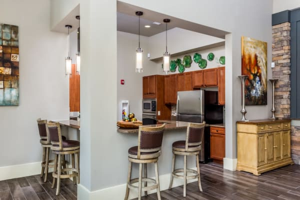 Spacious kitchen in the clubhouse at Berkshire Fort Mill in Fort Mill, South Carolina