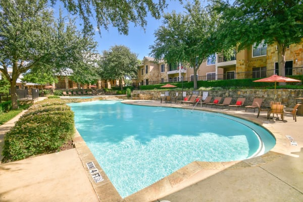 Swimming pool at El Lago Apartments in McKinney, Texas