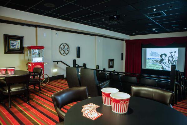 Onsite theater at Cottonwood Estates Gracious Retirement Living in Alpharetta, Georgia