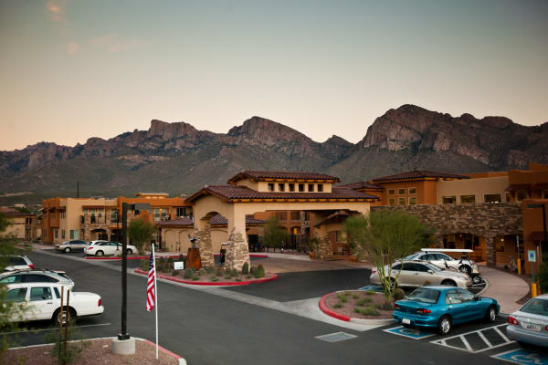 Building exterior of Desert Springs Gracious Retirement Living in Oro Valley, Arizona