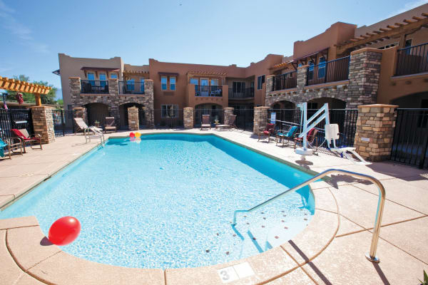 Large community pool at Desert Springs Gracious Retirement Living in Oro Valley, Arizona
