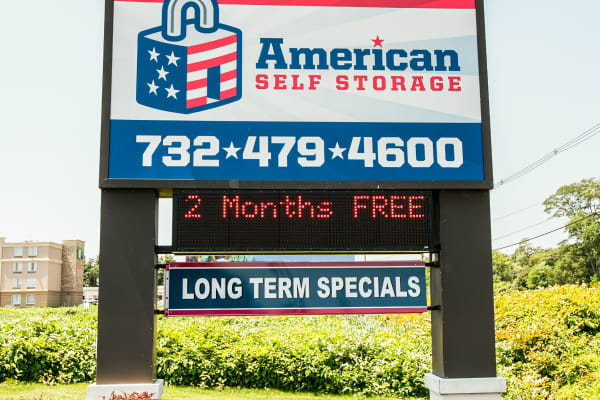 Self storage units for rent at American Self Storage in West Long Branch, New Jersey