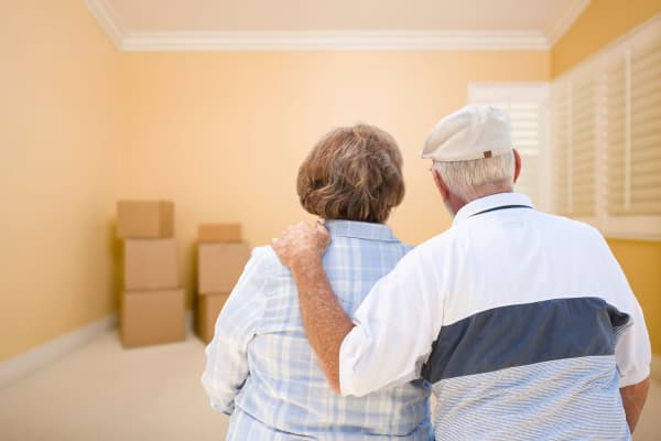 Elder Couple in Packed up home at American Self Storage in Tinton, New Jersey