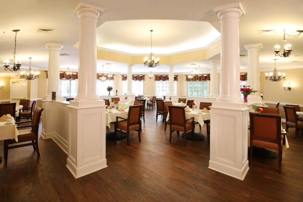 Spacious dining room at Reunion Court of Kingwood in Kingwood, Texas