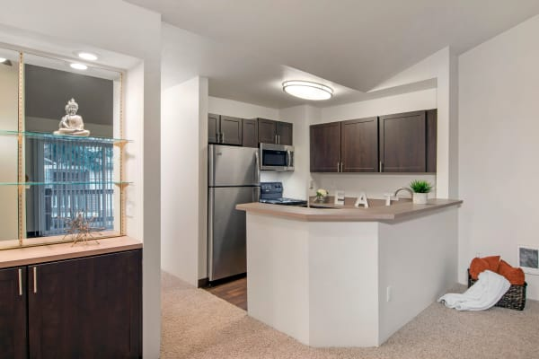 renovated brown Kitchen at Autumn Chase Apartments in Vancouver