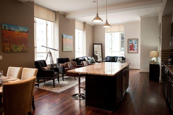Modern amenities at 400 North Ervay in Dallas, Texas