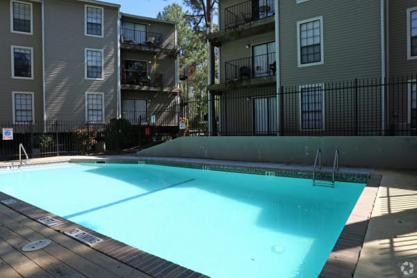 Swimming pool at Cornerstone Apartments in Huntsville, Texas