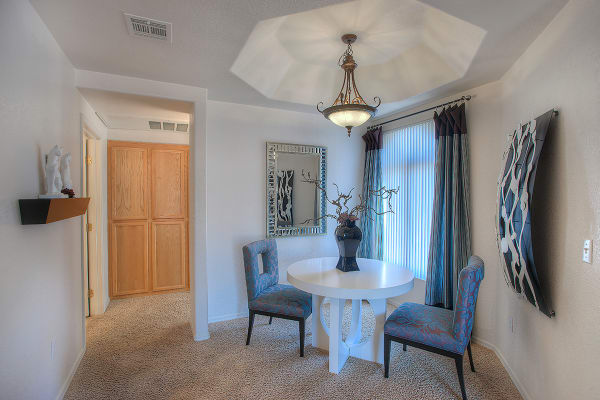 Dining area in apartment home at San Pedregal in Phoenix, Arizona
