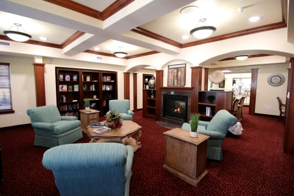 Quiet reading area at Mulligan Park Gracious Retirement Living in Tallahassee, Florida