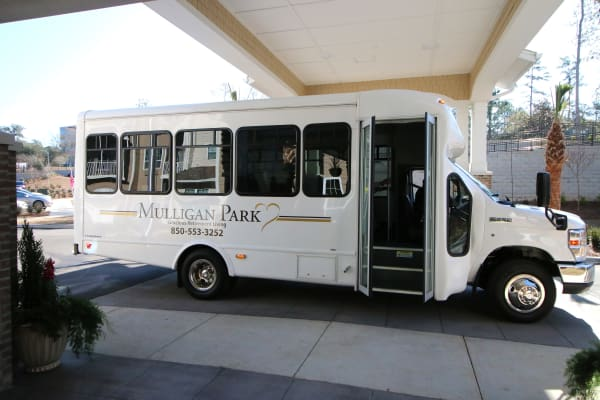 Community bus at Mulligan Park Gracious Retirement Living in Tallahassee, Florida