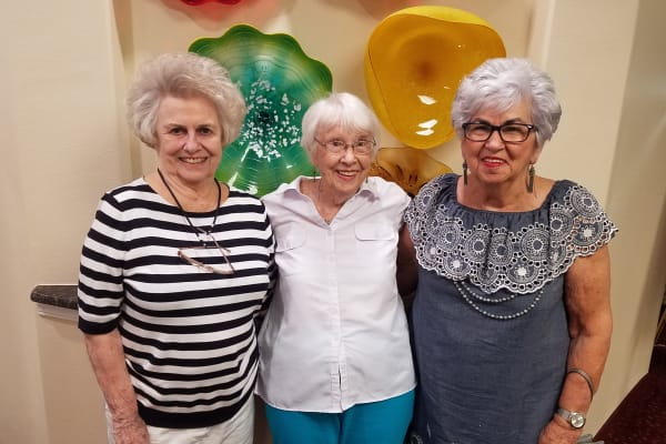 Betty Williams and friends at Mulligan Park Gracious Retirement Living in Tallahassee, Florida