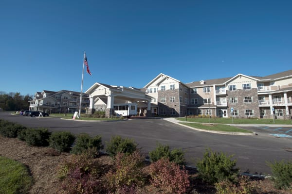 Building exterior of Northridge Gracious Retirement Living in Fishers, Indiana