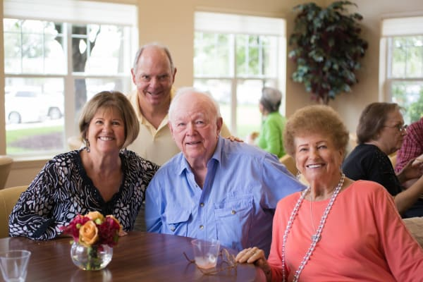 A group of residents at Pioneer Ridge Gracious Retirement Living in McKinney, Texas