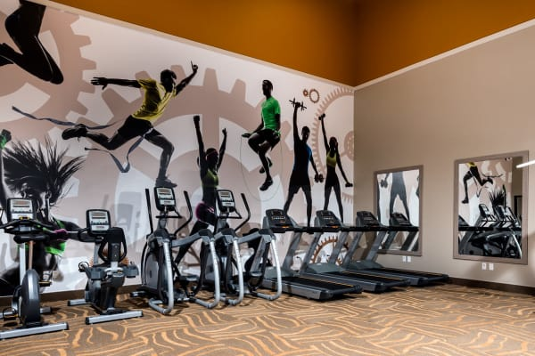 Gym Equipment at Sierra Heights Apartments in Rancho Cucamonga, California