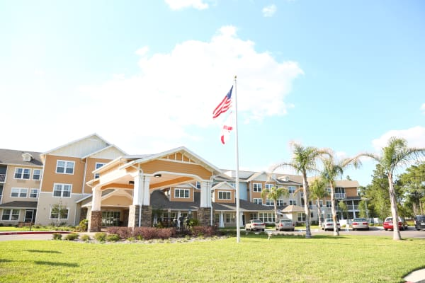 Building exterior of Salishan Gracious Retirement Living in Spring Hill, Florida