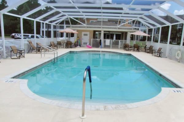 Indoor community pool at Salishan Gracious Retirement Living in Spring Hill, Florida