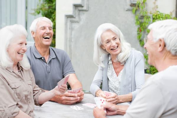 smiling senior residents