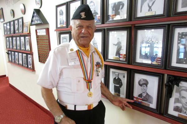 A veteran resident at Sanford Estates Gracious Retirement Living in Roswell, Georgia