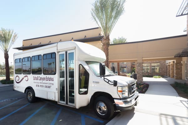 The community bus at Scholl Canyon Estates in Glendale, California
