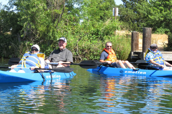 Residents from Steeplechase Retirement Residence in Oxford, Florida kayaking
