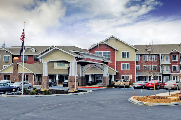 Building exterior of Sterling Heights Gracious Retirement Living in Bethlehem, Pennsylvania