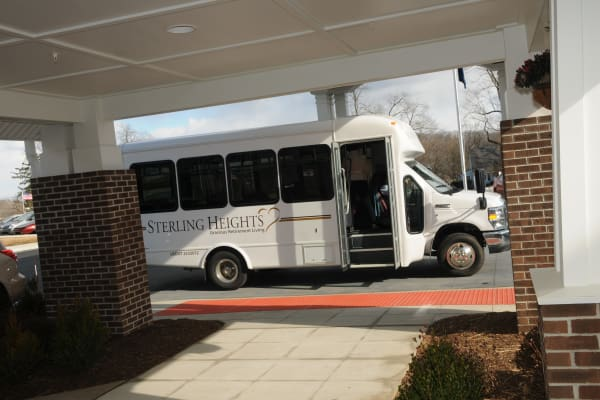 The community bus at Sterling Heights Gracious Retirement Living in Bethlehem, Pennsylvania