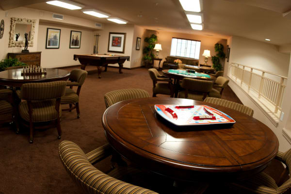 Scrabble on a table at Stoneridge Gracious Retirement Living in Cary, North Carolina