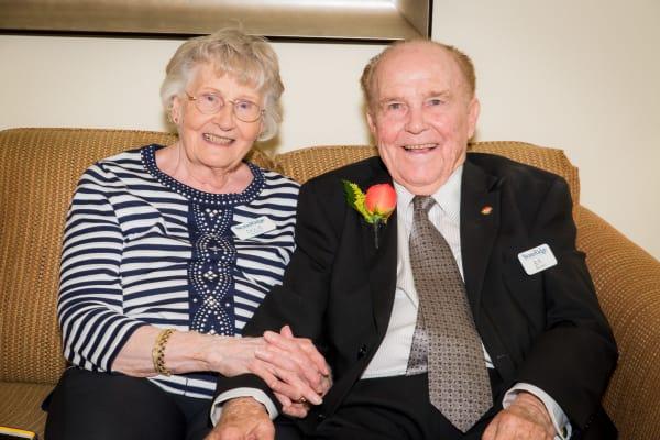A happy couple at Stoneridge Gracious Retirement Living in Cary, North Carolina