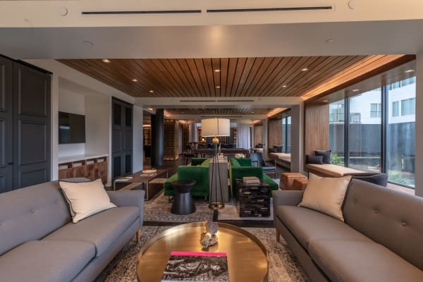 Apartment clubhouse at Bayou on the Bend in Houston, Texas