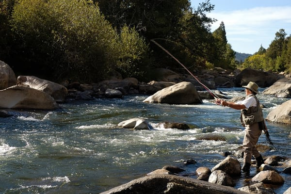 Mountain river fishing near Eagle Crest Apartments in Lakewood, Colorado