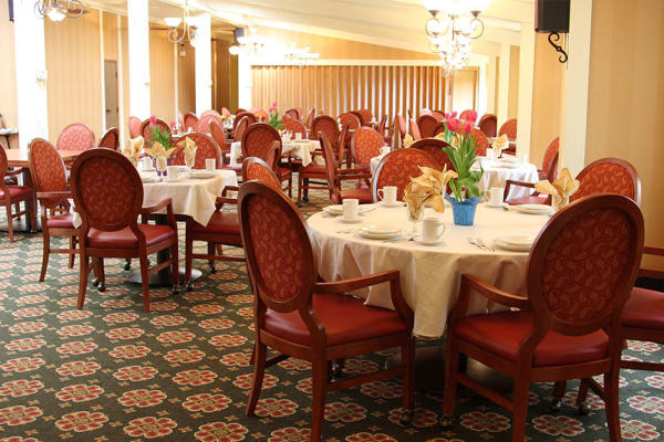 Dining area at the senior facility at Cardinal Village in Sewell, New Jersey