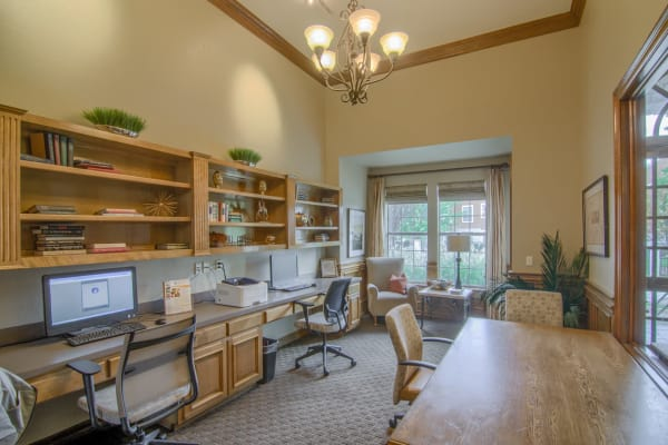 Beautiful office center at Stonehaven Villas in Tulsa, Oklahoma