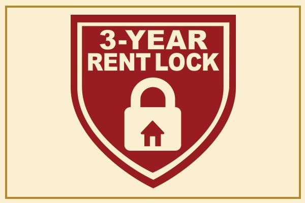 Senior living 3-year rent lock