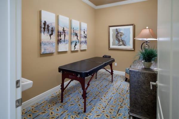 Massage table in clubhouse at Villa Grande on Saxon in Orange City, Florida