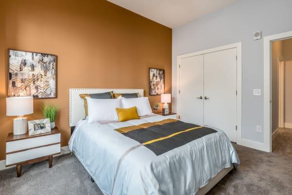 Bedroom at Echelon Luxury Apartments in Cincinnati, Ohio