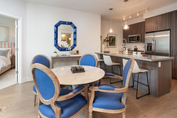 Kitchen leading into the living room at Lakeside Drive Apartments in Tempe, Arizona