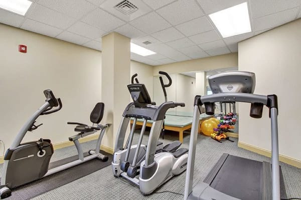 Exercise room at Keystone Villa at Ephrata in Ephrata, Pennsylvania