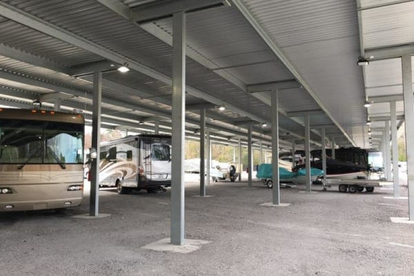 RV parking at Monster Self Storage in Wando, SC