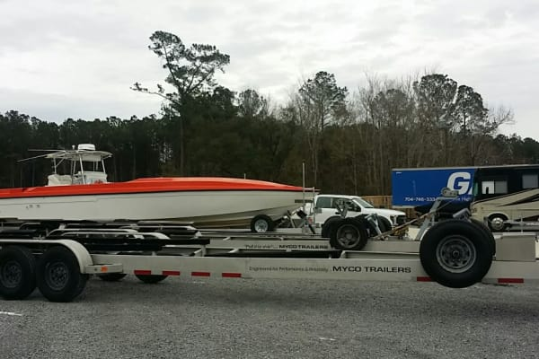 Boat storage at Monster Self Storage in Wando, SC