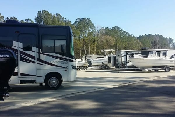 RV storage at Monster Self Storage in Wando, SC